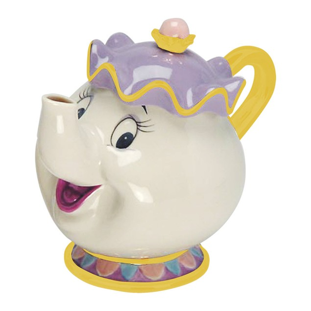 Mrs. Potts Sculpted Ceramic Teapot Beauty and the Beast Disney Movie