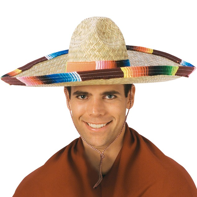 Sombrero Hat With Serape Band and Edge