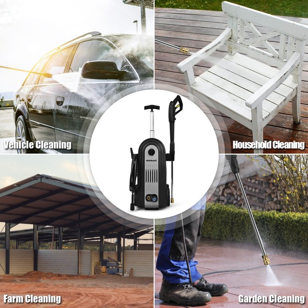 Costway 2800 PSI Electric Pressure Washer Bundle