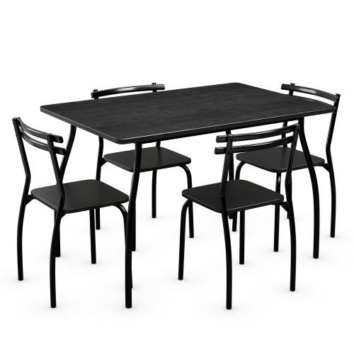 Costway 5 Pcs Dining Set Table 30'' And 4 Chairs Home Kitchen Room Breakfas