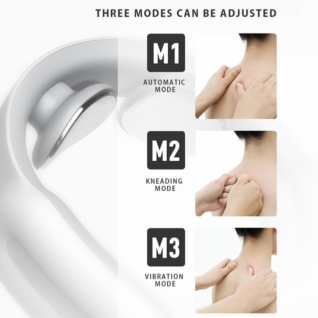 Electric Pulse Neck Massager Intelligent Heating Deep Muscle Tissue Massage