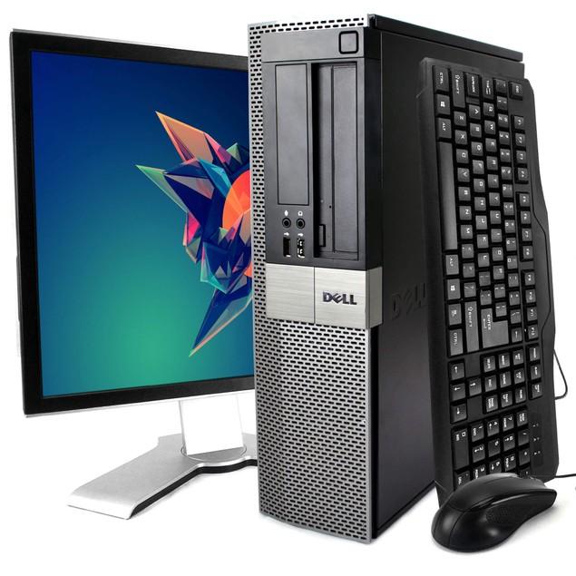 "Dell 980 Desktop Intel i5 4GB 500GB HDD Windows 10 Home 19"" Monitor"