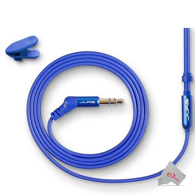 JLAB Jbuds Sleek 6mm Metal Earbuds Blue with 6mm Japanese Cobalt Magnet