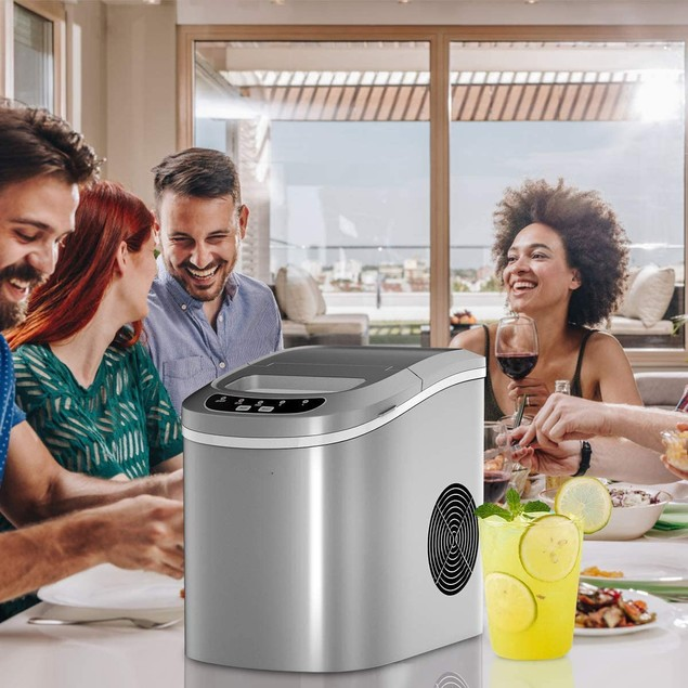 Portable Automatic Ice Maker with LED Display