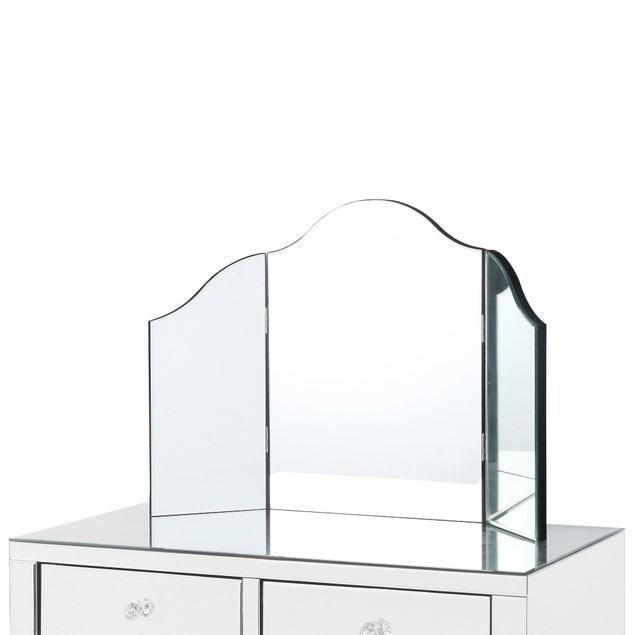 Louisa Mirrored 2 drawers Makeup Vanity Table, No Color