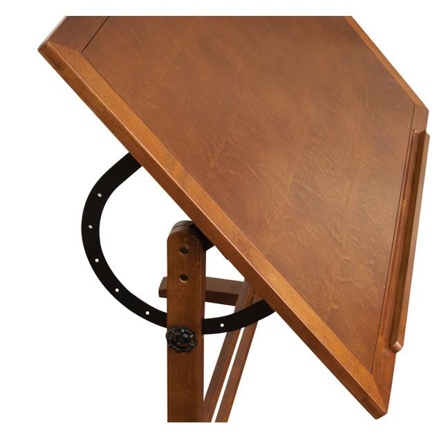 """Studio Designs Distressed Wood Vintage Drafting Table Rustic Oak 42"""" x 30"""""""