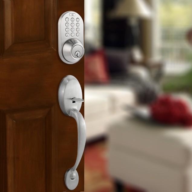 MiLocks Keyless Entry Deadbolt and Handleset Door Lock Combo