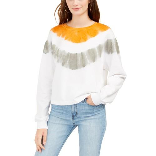 Rebellious One Juniors' Tie-Dyed Sweatshirt Gray Size Medium