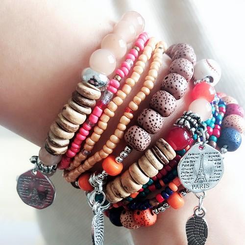 Women's Multi-Layer Elastic Bohemian Ethnic Style Bracelet