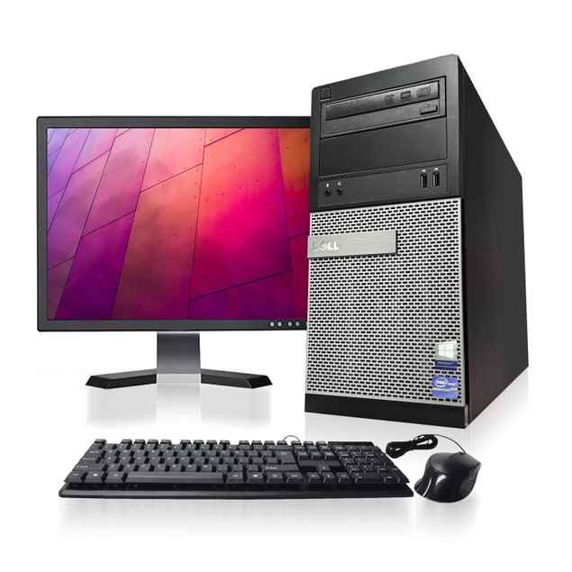 Dell Optiplex Computer & LCD Bundle (Intel Core i5, 8GB RAM, 1TB HDD)