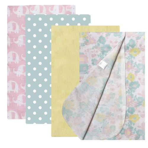 Modern Baby Cotton Flannel Receiving Blankets