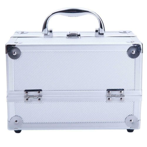 Beauty Aluminum Makeup Trainer Nail Case Jewelry Box Portable Cosmetic