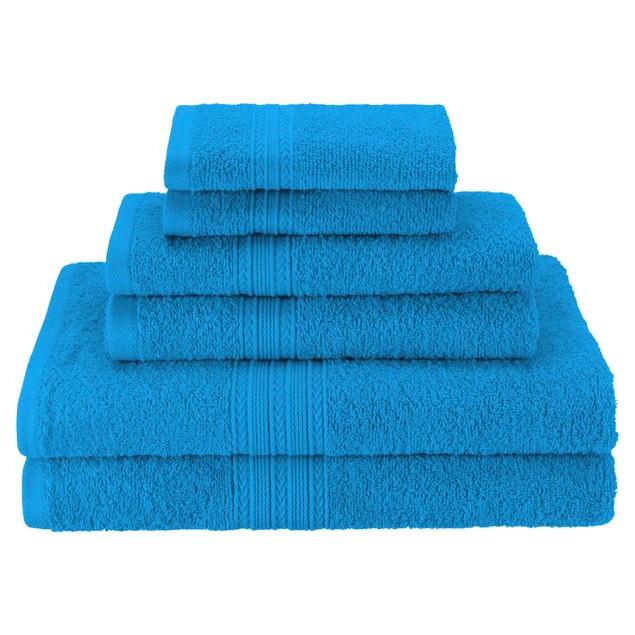 Eco-Friendly 6-Piece Cotton Bath Towel Set