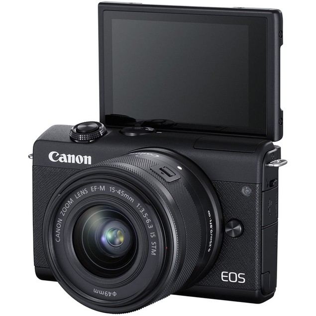 Canon EOS M200 Mirrorless Digital Camera with 15-45mm lens BLACK
