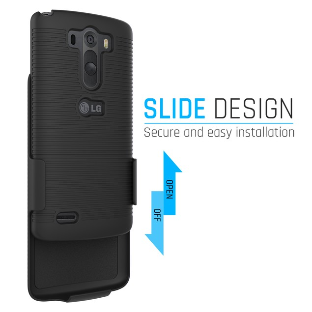 Stalion Secure Belt Clip Holster & Shell Case Combo with Kickstand LG G3