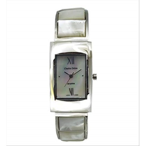 Charles Delon Women Watches 4112 LPMM Silver/Pearl/Silver Stainless Steel Quartz