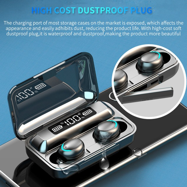 Crescent Battery Without Cord Bluetooth Headset Binaural Bluetooth