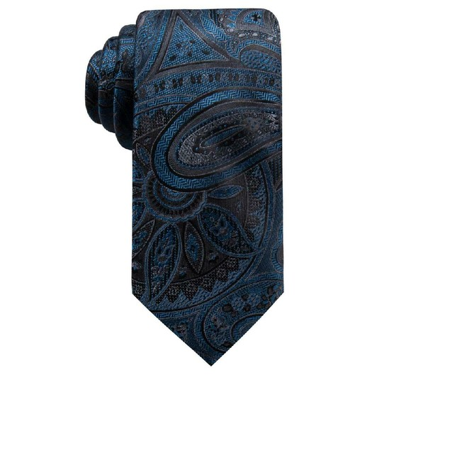 Ryan Seacrest Men's Matilda Silk Neck Tie Blue One Size