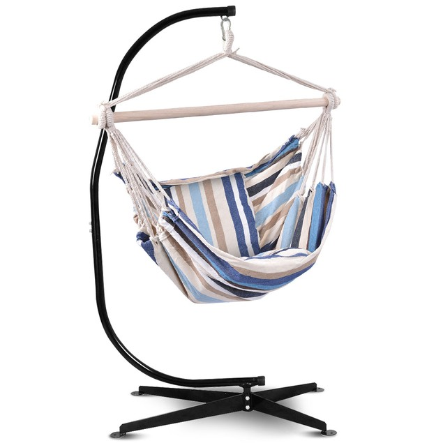 Costway Hammock Rope Chair Patio Porch Yard Tree Hanging Air Swing Outdoor