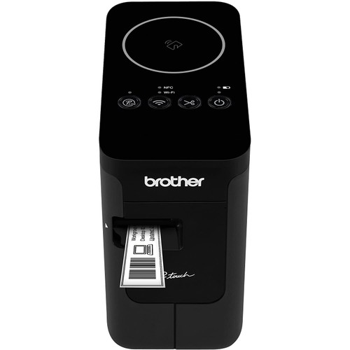 Brothers Brother P-touch, PTP750W, Wireless Label Maker, NFC Connectivity, USB Interface, Mobile Device Printing, Black