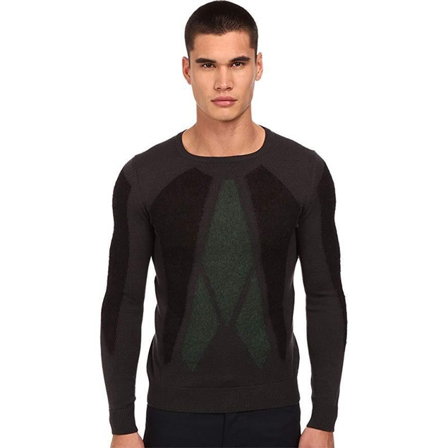 CoSTUME NATIONAL Men's Knitted Sweater Grigio XL