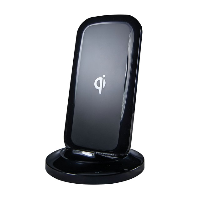 Qi Tabletop Wireless Charging Stand, Black