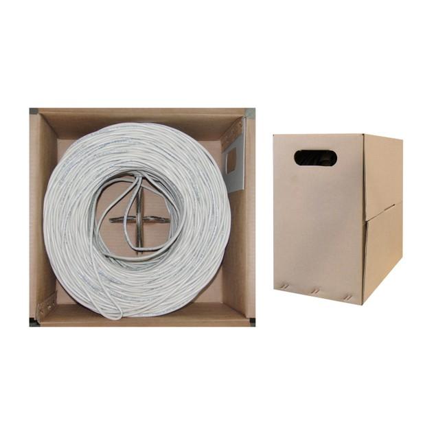 Bulk Cat5e White Ethernet Cable, 1000 foot