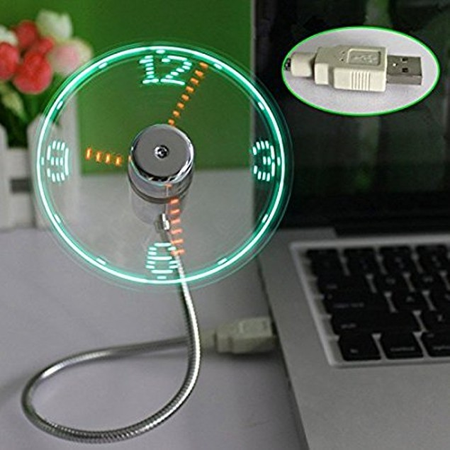 Mini Clock USb Fan
