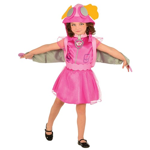 Kids Skye Paw Patrol Costume Halloween Girls Youth Pup Pack With Wings