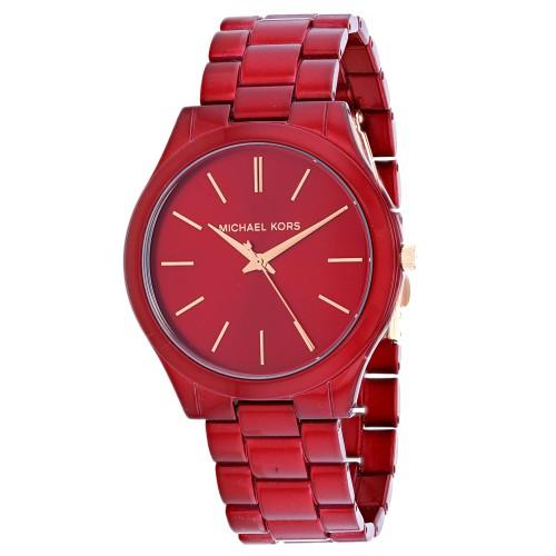 Michael Kors Women's Slim Runway Red Dial Watch - MK3895