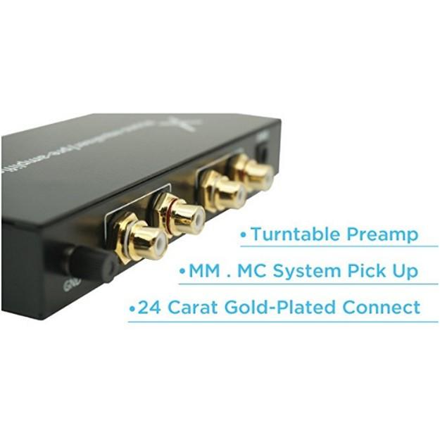 XtremPro Phono Equalizer Pre-amplifier Audio Turntable Aluminium panel