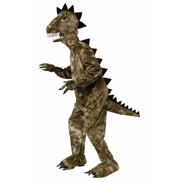 Plush Dinosaur Costume T-Rex Green Polyester Raptor Jurassic Park Mascot