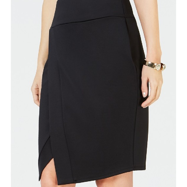Thalia Sodi Women's Scuba Skirt Black Size Small