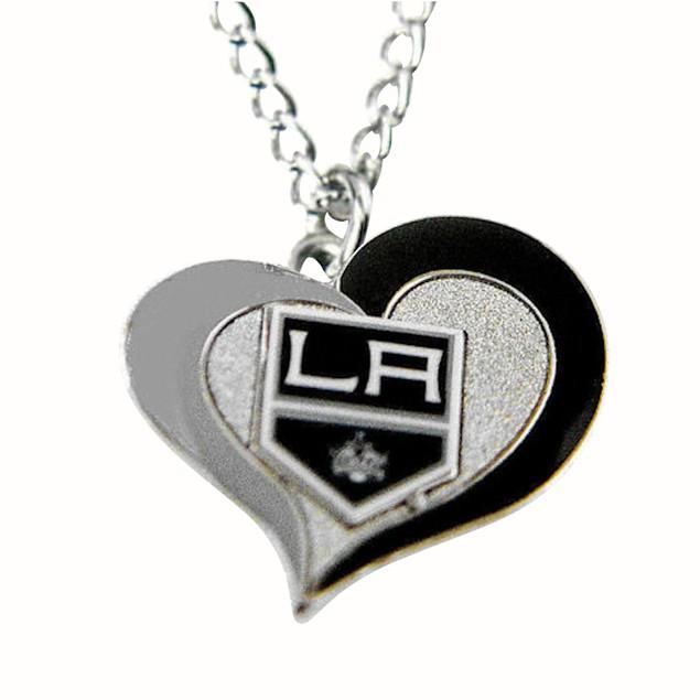 NHL Los Angeles Kings La Swirl Heart Necklace
