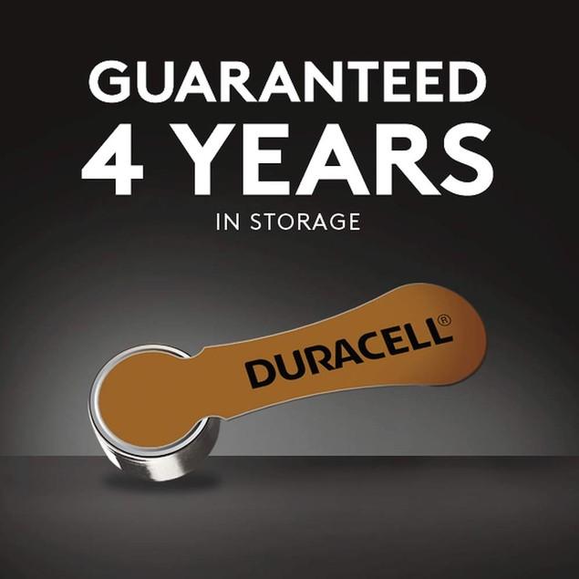 Duracell DA10B8ZM10 Easy Tab Hearing Aid Zinc Air Battery, 1.4V, 8-Pack, 10
