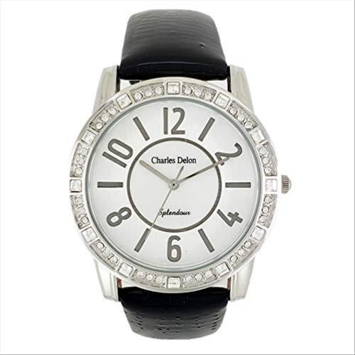 Charles Delon Women's Watches 5431 LPSB Black/Silver Stainless Steel Quartz Round