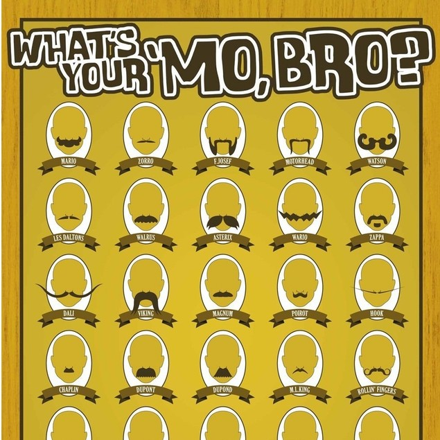 What's Your Mo, Bro? Mustache Poster