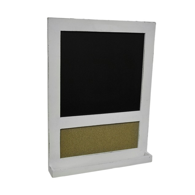Distressed Finish Framed Wall Mount Chalkboard And Chalkboards