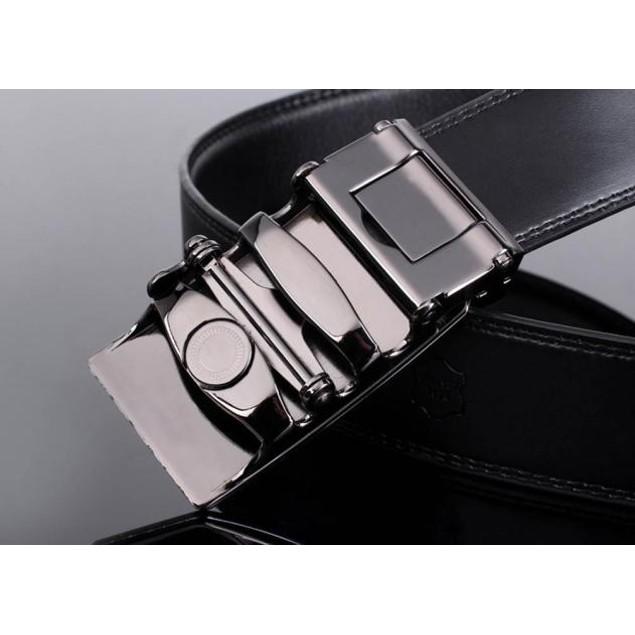 Men's Leather Automatic Buckle Belt