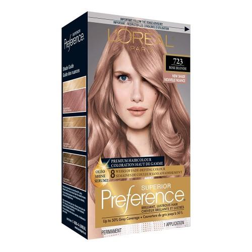 L'Oreal Paris Superior Preference Permanent Hair Colour 723 Dark Rose Blon