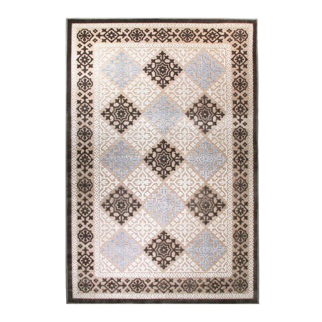 Medallion High-Low Polyester Area Rug by Blue Nile Mills