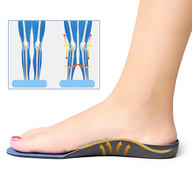 Heel Cup Pronation Flat Feet Orthotic Arch Support Cushion Pad Insoles