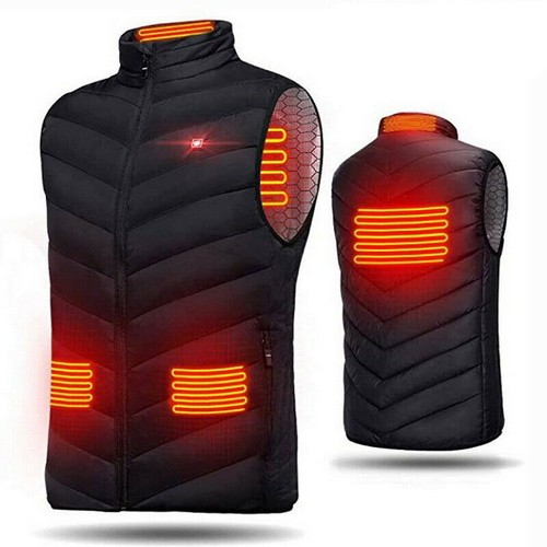 Electric Vest Heated Jacket USB Thermal Warm Heat Pad Winter Body Warmer