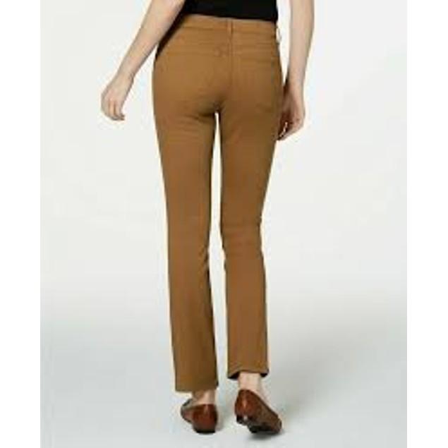 Charter Club Women's Lexington Straight-Leg Jeans Medium Brown Size 6