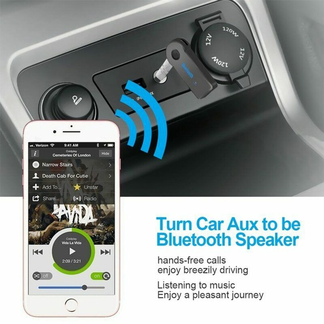 Bluetooth Receiver for Car Aux Bluetooth Adapter Wired Speakers Headphones