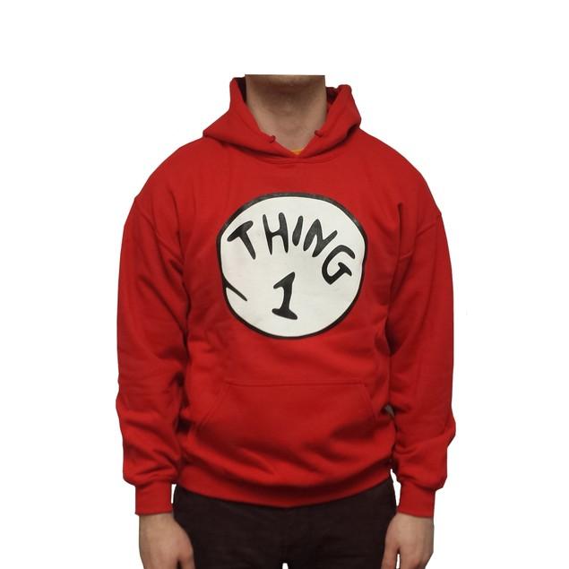 Thing 1 Hoodie Sweatshirt Hooded Costume Book Movie Dr Seuss Cat In The Hat