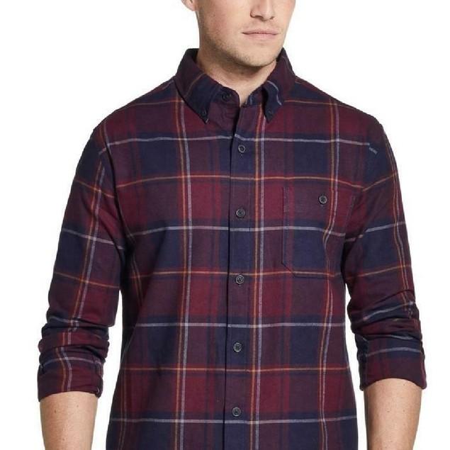 Weatherproof Brushed Antique Flannel Plaid Shirt Oxblood 3 Extra Large
