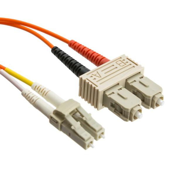 Fiber Optic Cable, LC / SC, Multimode, Duplex, 50/125, 3 meter (10 foot)