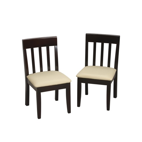 Gift Mark Childrens Espresso Chair Set With Upholstered Seat 23005E