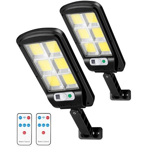 2 Pack Solar Security Street Lights Outdoor Motion Sensor Flood Lights